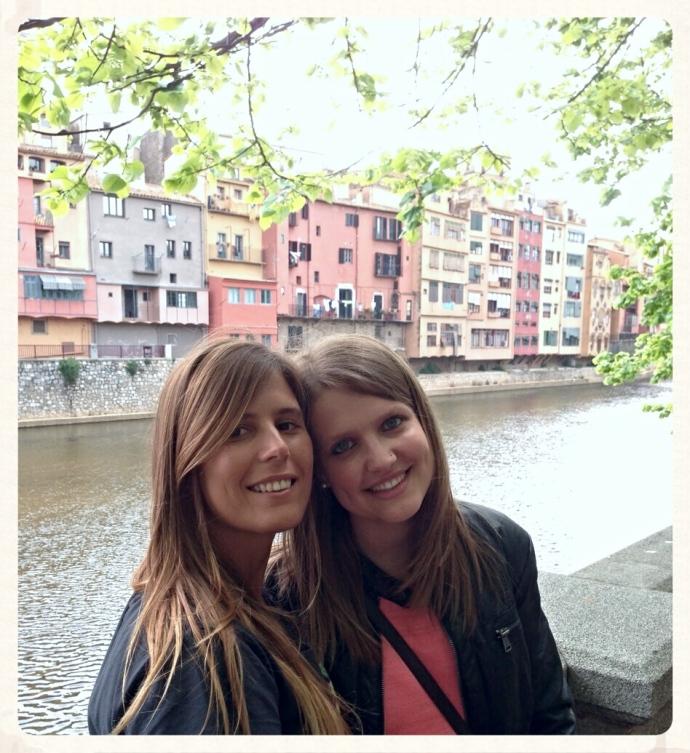 Anna y yo en Girona a mi regreso de Australia